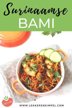 Surinaamse bami met kip: in 20 minuten op tafel - Lekker en Simpel Indian Food Recipes, Real Food Recipes, Vegetarian Recipes, Cooking Recipes, Healthy Recipes, Ethnic Recipes, Rice Recipes, Good Food, Yummy Food