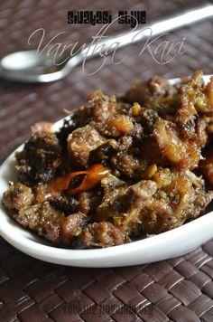 Simple and Easy SouthIndian Mutton Fry recipe (Varutha Kari) with just 3 spices - black pepper, red chillies and cumin powder Fried Fish Recipes, Lamb Recipes, Veg Recipes, Curry Recipes, Wine Recipes, Indian Food Recipes, Vegetarian Recipes, Indian Foods, Cooker Recipes