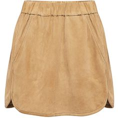 Marissa Webb - Paulette Suede Mini Skirt (22.400 RUB) ❤ liked on Polyvore featuring skirts, mini skirts, bottoms, faldas, saias, beige skirt, suede leather skirt, mini skirt, short skirts and beige mini skirt