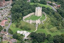Conisbrough Castle is a 12th-century castle in Conisbrough, South Yorkshire, England,The castle was probably built by Hamelin Plantagenet on the site of an earlier Norman castle.The Yorkshire lands ceded to The Crown on the death without issue of John de Warenne, 7th Earl of Surrey in 1347.
