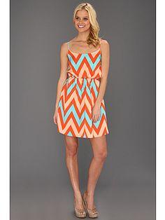 Type Z Kiki Zig Zag Scrunch Waist Dress $69