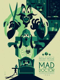 Tom Whalen has recently created these stunning modern vintage Walt Disney poster printing. Tom Whalen, Omg Posters, Cartoon Posters, Retro Cartoons, Classic Cartoons, Vintage Disney Posters, Disney Movie Posters, Disney Kunst, Disney Art