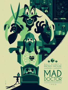 Tom Whalen has recently created these stunning modern vintage Walt Disney poster printing. Tom Whalen, Omg Posters, Cartoon Posters, Retro Cartoons, Classic Cartoons, Posters Disney Vintage, Disney Movie Posters, Art Disney, Disney Kunst