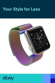 Stainless Steel Metal Band Strap For NEW Apple Watch Series 4 Rainbow - Xenforo Depo Used Apple Watch, Apple Watch Series 3, Stainless Steel Metal, Stainless Steel Bracelet, G Shock Watches, Cool Watches, Apple Watch Bands 42mm, Rubber Watches, Leather Watch Bands