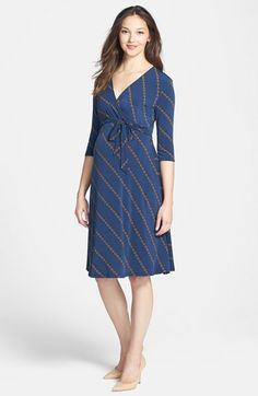 Leota+'Perfect+Wrap'+Maternity+Dress+available+at+#Nordstrom