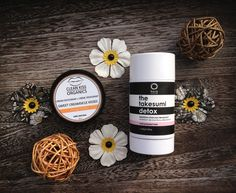 All natural deodorants. Left - Clean Kiss Organics and Right - The Takesumi by Kaia Naturals