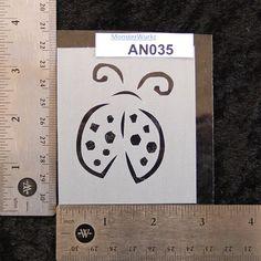Ladybug Stencil 2-3/4 x 3.25 7 mil  AN035 by MonsterWurkz on Etsy