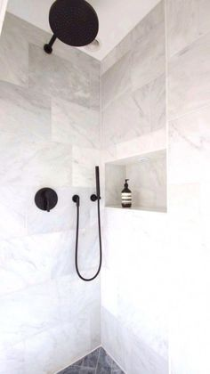 Black and White Bathroom Design . Black and White Bathroom Design . A Contrasting Black and White Bathroom Echoes the Floor Laundry In Bathroom, Small Bathroom, Master Bathroom, Neutral Bathroom, Modern Bathroom, Master Baths, Colorful Bathroom, Master Shower, Bathroom Tile Designs
