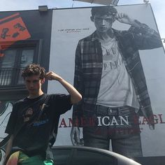 When I saw this I wanted to cry, I'm so proud of him from making covers on YouTube to modeling for American Eagle