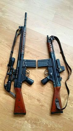 H&K SG3 & G3 7.62mm Assault-Rifles.