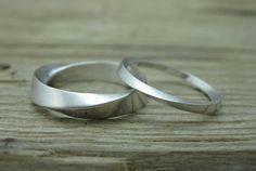 Wedding Rings Set Mobius Ring Wedding Ring  Gold Wedding by Benati