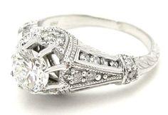 Gorgeous vintage engagement ring.