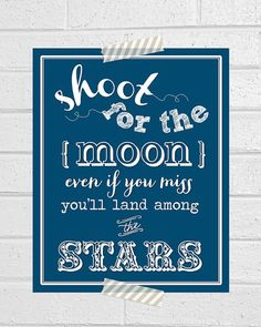 Shoot for the Moon   Print  by CoCoStineDesigns on Etsy, $15.00