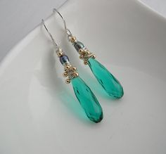 Apatite Quartz and Peacock Pearl Long от SarahHickeyJewellery
