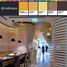 #分享Instagram# #sushicafeavenida #avenida #flagship #restaurant #lisbon #retail #restaurantdesign #interior #interiordesign #intérieur #retaildesign #seating #table #lightfitting #light #louvers #colors #displayunit #wallsculpture #pos #colortrend #colorlovers #colorscheme #chandelier