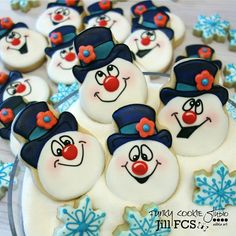 Frosty the snowman cookies
