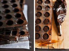 Faire ses chocolats-maison : trucs et astuces Make Your Own Chocolate, Homemade Chocolate, Chocolate Recipes, No Salt Recipes, Candy Recipes, Sweet Recipes, Chocolate Bonbon, Chocolate Truffles, Best Christmas Crackers