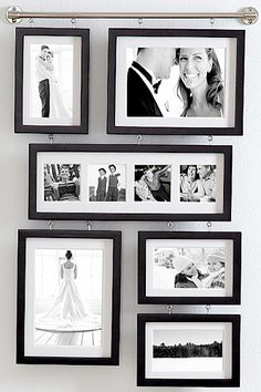 wall gallery frame from Red Envelope Hanging Picture Frames, Hanging Pictures, Picture Wall, Photo Wall, Hang Photos, Display Pictures, Engagement Gifts For Her, Style Parisienne, Gallery Wall Frames