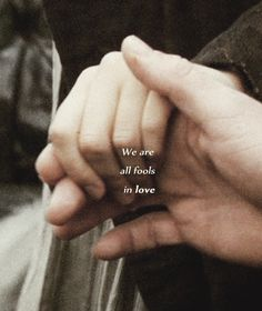 We are all fools in love. This scene always gives me the shivers! Know that physical touch was rare in Jane Austen's time, I love that Darcy took advantage of this moment to touch Elizabeth :)