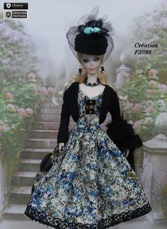 "Robe Barbie "" Alice "" vêtement pour poupée Barbie Fashion Royalty Silkstone Muse par f3788"