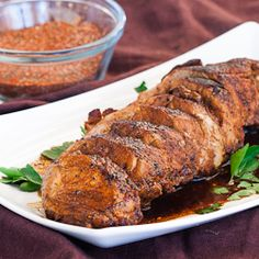 Cajun Honey Pork Tenderloin - sweet and spicy pork tenderloin that's super tender and simply delicious.
