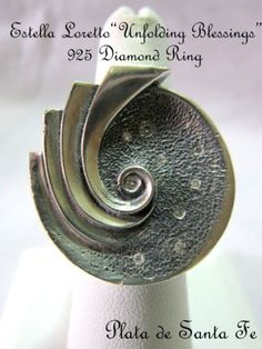Santa-Fe-ESTELLA-LORETTO-UNFOLDING-BLESSINGS-Diamonds-925-Ring-SZ-6-1-4