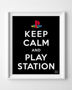 Keep Calm and Playstation Poster Inspirational by InkistPrints, $11.95