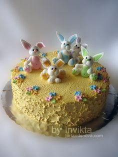 Bunnies Easter cake