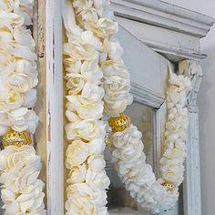 Jasmine Fabric Flower Garland - bunting & garlands