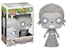 This Ghostbusters Pop! Vinyl Figure features one of the apparitions, Gertrude Eldridge, from the rebooted 2016 film Ghostbusters. This figure measures about 3 3/4 inches tall and comes packaged in a window display box. #funko #popvinyl #actionfigure #collectible #GertrudeEldridge