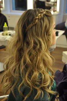 Hairstyles For School, Girl Hairstyles, Braided Hairstyles, Wedding Hairstyles, Hairstyles Pictures, Bridesmaid Hair, Prom Hair, Long Bangs, Bridal Updo