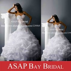 Free Shipping Custom Made Ball Gown Pin Up Sweetheart Organza See Through Lace Corset Wedding Dresses $177.00