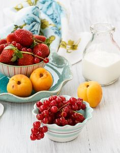 Fresh fruits and berries for breakfast