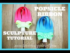 How to Make a Popsicle Ribbon Sculpture - Easy to follow hair clip tutorial! – Hairbow Supplies, Etc.