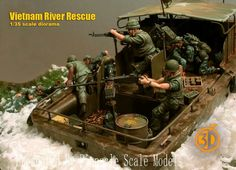 Vietnam River Rescue | 1/35 Scale Diorama Astonishing work...