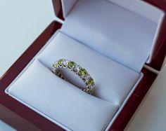Peridot Skys: Anjolee Eternity Ring