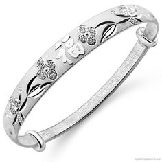 Illumination Sterling Silver Bangle For Wedding