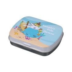 #name - #Add name Nautical baby shower candy favor tin Candy Tin