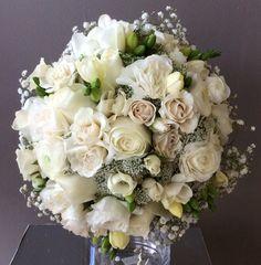 All whites wedding bouquet