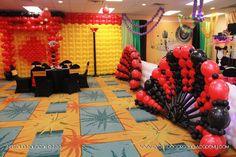 camping balloon columns - Google Search Casino Theme Parties, Casino Party, Balloon Columns, Balloon Decorations, Balloons, Camping, Google Search, Campsite, Globes
