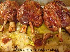 Les receptes del Miquel: Codillo al horno con patatas y cebolla
