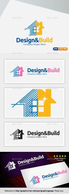 Design & Build Logo Template PSD, Vector EPS, AI. Download here: http://graphicriver.net/item/real-estate-bulder-civil-engeering/15501440?ref=ksioks