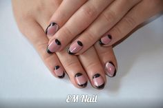 #beż # czerń #polish #french #nail #EMnail