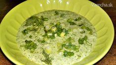 Studená zelená jogurtová polievka (fotorecept)