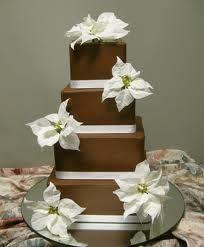 Image from http://mostbeautifulflower.com/wp-content/uploads/2011/07/Choco-Poinsettia-Wedding-Cake.jpg.