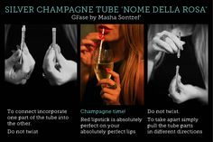 Silver champagne tube