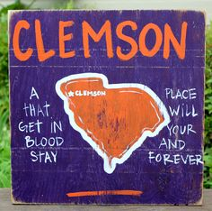 Clemson, SC Pin Your College Town! by Simply Southern Signs available on BourbonandBoots.com