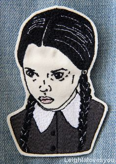 Wednesday Addams Embroidered Patch/Brooch by LeighLaLovesYou