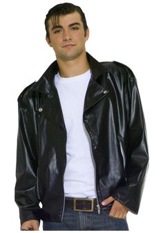 Costumes This Adult Plus Size Greaser Jacket is a must have accessory for a greaser costume. Become one of the members of the T-birds from Grease.
