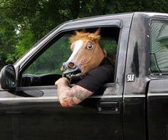 Horse Head Mask  ikm looking at yuo mom